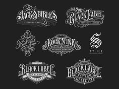 Logo Type Update - Great work from a designer in the Dribbble community; your best resource to discover and connect wi - Logo Vintage, Vintage Typography, Typography Letters, Typography Logo, Vintage Graphic, Tattoo Lettering Fonts, Lettering Design, Logo Design, Branding Design
