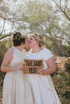 These Brides Have Us Swooning Over Their Gorgeous Big Day Lesbian Wedding, Wedding Bride, Wedding Stuff, Fat Bride, Wedding Styles, Wedding Photos, Modcloth Wedding, Two Brides, Happy Women