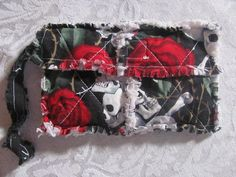 Roses and Skulls inspired Clutch bag Skulls by morethanbearscrafts