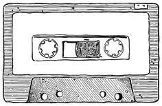 Music Drawings, Easy Drawings, Cassette Tape Art, Cassette Tattoo, Sketchbook Tumblr, Casette Tapes, Creative Calendar, Hip Hop Art, Journal Themes