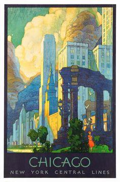 ART & ARTISTS: Vintage Travel Posters - part 2 / Artwork: Leslie Ragan