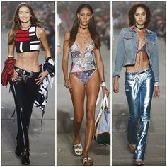 We hope you're feeling confident about baring your midriff - see every look from the @tommyhilfiger #ss17 show at Vogue.co.uk/shows  via BRITISH VOGUE MAGAZINE OFFICIAL INSTAGRAM - Fashion Campaigns  Haute Couture  Advertising  Editorial Photography  Magazine Cover Designs  Supermodels  Runway Models