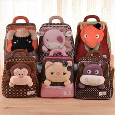 Brand New 3D Animal shaped children backpack double shoulder school bag kids cartoon mochila infantil mochilas escolares