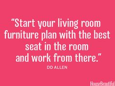 Start with the best seat in the house #design #decorating #quotes