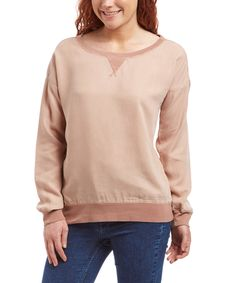 Look what I found on #zulily! Kenneth Cole Reaction Dusty Pink Active Sweatshirt - Women by Kenneth Cole Reaction #zulilyfinds