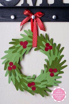 DIY Hands wreath for kids