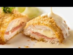 My EASY Chicken Cordon Bleu recipe. All the flavour, all the crunch, healthier and far easier! Served with an incredible Dijon cream sauce. Baked Chicken, Chicken Recipes, Thai Chicken, Garlic Chicken, Chicken Doner, Chicken Satay, Cashew Chicken, Greek Chicken, Chicken Tacos