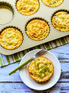 Crustless Breakfast Tarts With Mushrooms and Goat Cheese by @kalynskitchen