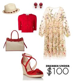 """Contest: dress under $100"" by dtlpinn on Polyvore featuring Zagliani, L.K.Bennett, Dorothy Perkins and Valentino"