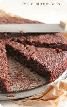 Moelleux au chocolat : flocons d'avoine, chocolat noir, lait de chataignes, purée de cacahuètes