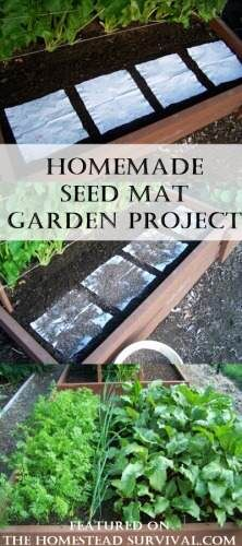 Homemade Seed Mat Garden Project: Starting a Homestead Garden | The Homestead Survival