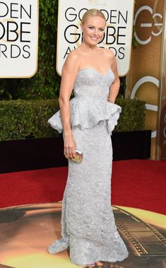Pin for Later: Don't Miss a Single Sexy Look From the Golden Globes Malin Akerman Wearing a Reem Acra dress and Brian Atwood heels.