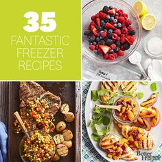 These make-ahead dishes make weeknight dinners a breeze. Simply prep, freeze, and thaw -- it couldn't be any easier!/