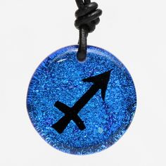 Sagittarius Zodiac Sign Pendant Birth Sign Astrology Necklace Blue Color fused Dichroic Glass by zulasurfing Mother& Day Gift Sagittarius Astrology, Sagittarius Quotes, Zodiac Horoscope, Horoscopes, Dichroic Glass Jewelry, Glass Pendants, Zodiac Jewelry, Glass Photo, Bridal Accessories