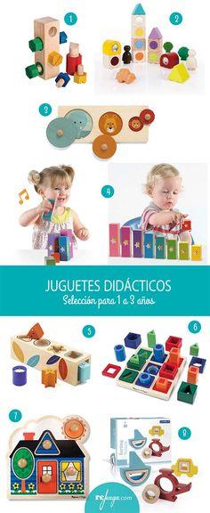 Selección de juguetes didácticos para niños de 1 a 3 años