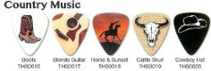 Country Music Theme Guitar Picks by Grover Allman. $3.99
