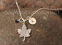Sterling Silver Mini Initial Hand Stamped by SayWhatCreations, $32.50