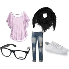 Geek Chic Outfit, created by kaileyanncarter on Polyvore