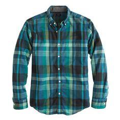 Indian cotton shirt in Atlantic ocean plaid - Indian Cotton Plaid Shirts - Men's shirts - J.Crew