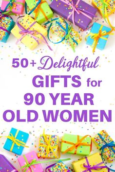 ✅ Shopping for the best gift for a 90 year old woman?  It's easy to find a present she'll love!  Click to see 50+ unique gift ideas for 90 year old woman...with prices starting at under $10!  #FINDinista #90thBirthday #giftsforher