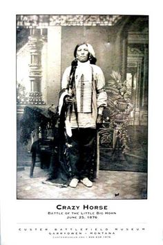 Crazy Horse Poster, Famous Native American War Chief of the Custer Battle