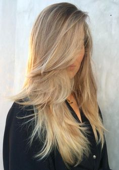 long layers + balayage