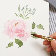 een quite hectic lately, but i just can't help myself from trying my brand new brush from I'm a big fan of Watercolor Pictures, Watercolor And Ink, Watercolour Painting, Watercolor Flowers, Painting & Drawing, Watercolors, Watercolor Projects, Watercolour Tutorials, Watercolor Techniques