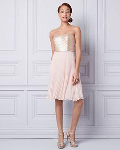 Sequin & Chiffon Strapless Dress | LE CHÂTEAU