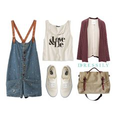 This outfit is perfect for #backtoschool days, a day out with friends or lounging around in cafes. Comfy and cute all at the same time! www.dressi.ly