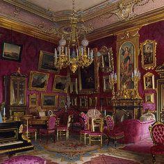 Luigi Premazzi Mansion of Baron A. Stieglitz, Study of Baroness Stieglitz, detail 1870