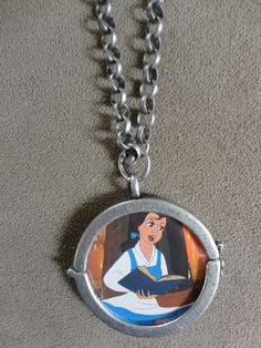 Vintage 1992 Beauty and the Beast Belle Pendant by TicketTrinkets, $30.00