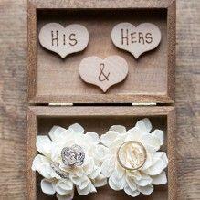 Rustic Ring Bearer Box - Ring Bearer & Flower Girl