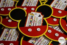 Mickey Mouse Clubhouse Party - Invitation Mickey Mouse Room, Mickey Mouse Party Favors, Mickey Mouse Clubhouse Birthday Party, Mickey Mouse Parties, Mickey Party, Mickey Mouse Birthday, 3rd Birthday Parties, 2nd Birthday, Birthday Ideas