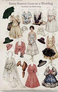 1900 Doll Victorian Paper Dolls, Vintage Paper Dolls, Paper Art, Paper Crafts, Paper Cutting, Paper Dolls Printable, Dress Up Dolls, Doll Toys, Dolls Dolls