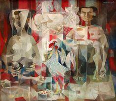 Market Scene by Vicente Manansala Filipino Art, Philippine Art, Drawing Studies, Spanish Artists, Cubism, Artists Like, Art Auction, Philippines, Oil On Canvas