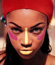 "fashionphotographyscans: ""Year: 90′s Models: Tyra Banks Photographer: Paul Lange """