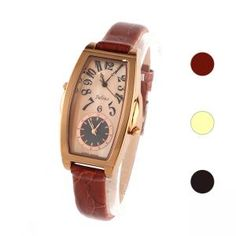 Antik Armbanduhr Lederband mit Dual-Zifferblatt