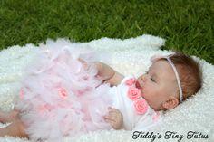 Baby Girl Tutu Set Tutu Outfit Pink Rosette Newborn Preemie 3 Month 6 Month. $42.99, via Etsy.