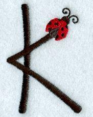 Ladybug Letter K - 3 inch