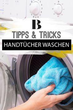 Wenn wir Handtücher waschen, geht es vor allem darum, sie wieder hygienisch sauber zu bekommen. Wir sagen, was ihr beim Waschen und Trocknen beachten müsst - auch bei Mikrofasern. #haushaltstipps #handtücherwaschen #mikrofaser #hygiene #waschtipps Housekeeping, Clean House, Washing Machine, Household, Sweet Home, Home Appliances, Cleaning, Tips, Lifehacks
