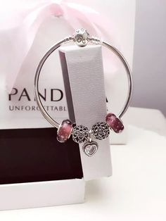 50% OFF!!! $159 Pandora Bangle Charm Bracelet Pink. Hot Sale!!! SKU: CB01863 - PANDORA Bracelet Ideas