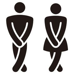 Adesivi Murali: Divertente bagno icone WC