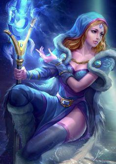 Dota fanart - Crystal Maiden by derrickSong