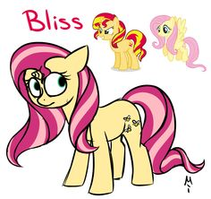 #713974 - artist:milchik, fluttershy, fusion, offspring, safe, sunset shimmer - Derpibooru - My Little Pony: Friendship is Magic Imageboard