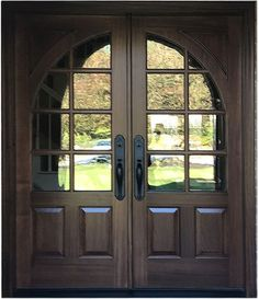 Mahogany doors, wood doors and custom doors with modern, contemporary, and craftsman styling. Shop for solid wood entry doors handcrafted in USA. Custom and instock designs Double Front Entry Doors, Double Doors Exterior, Wood Entry Doors, Wood Exterior Door, Aluminium French Doors, Upvc French Doors, Custom Screen Doors, Custom Wood Doors, Home Design