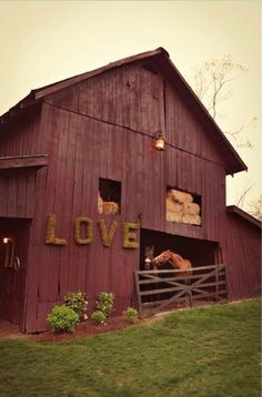i wana cute little house with a barn like this outback