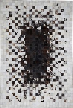 modernrugs.com cowhide Design Mosaic Gradient Modern Rug