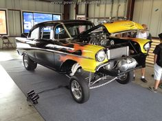 Altered wheelbase #Chevy #Gasser #flames