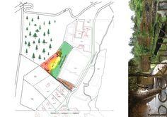 plattegrondschets Beekhuizen - ideeënschets voormalig zwembad terrein - vorm & inhoud