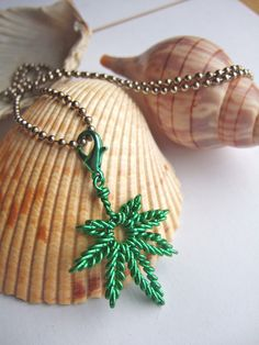 Twistd Wire Marijuana Leaf Charm Necklace by TwistdWiresandPliers on Etsy